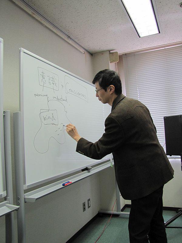 Dr. Hideaki Sena diagrams his Theory of Mind.