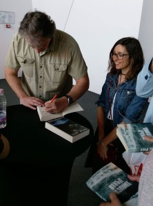 Signing after. Apparently one of these books did really well in Bulgarian. The other tanked.
