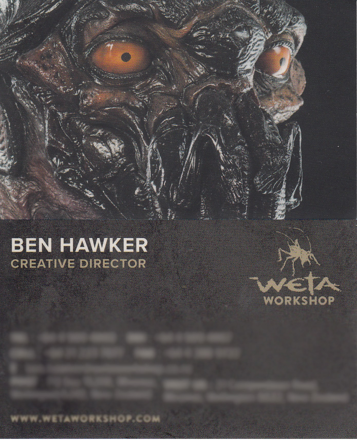 This is Ben Hawker's business card, with all the personal stuff blurred. Just to prove that I met him.